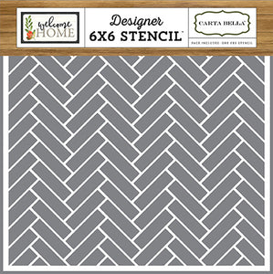 Carta Bella 6x6 Stencil - Welcome Home - Chevron Tiles