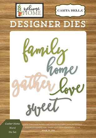 Carta Bella Designer Dies - Welcome Home - Garden Home Word Set