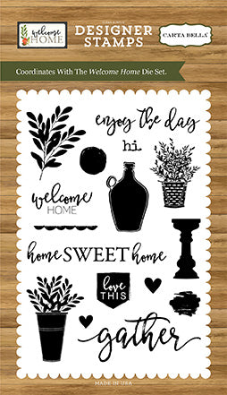 Carta Bella Stamp and Die Set - Welcome Home