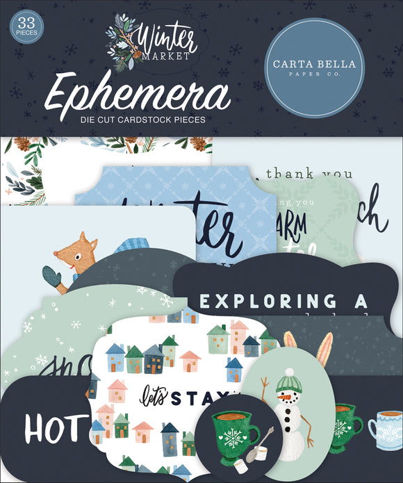 Carta Bella Ephemera Die-Cuts - Winter Market