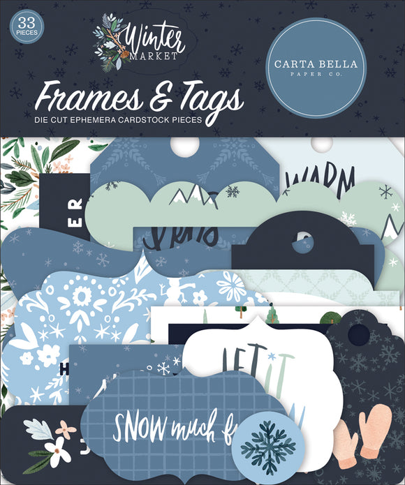 Carta Bella Frames & Tags Die-Cuts - Winter Market