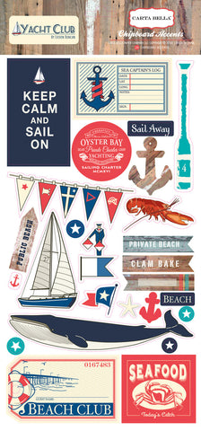 Carta Bella Chipboard - Yacht Club