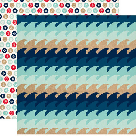 Carta Bella Papers - Ahoy There - Waves - 2 Sheets