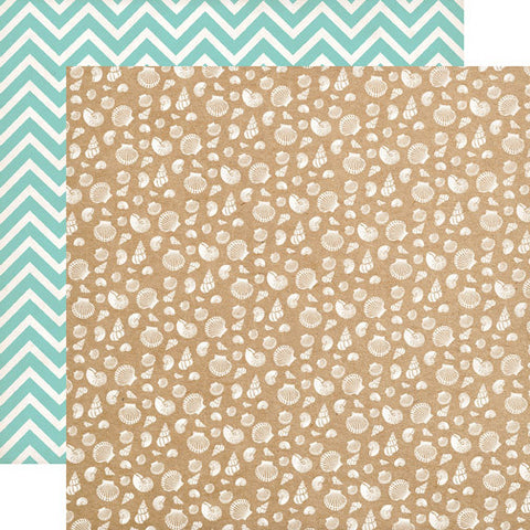 Carta Bella Papers - Ahoy There - Seashells - 2 Sheets