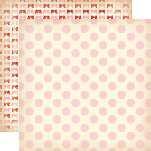 Carta Bella Papers - Baby Mine Girl - Baby Girl Dots - 2 Sheets
