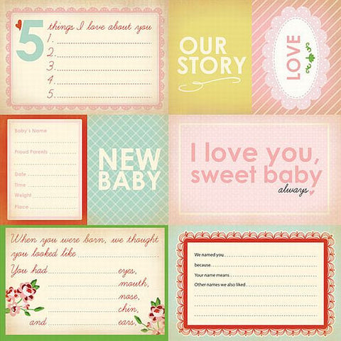 Carta Bella Cut-Outs - Baby Mine - Our Story