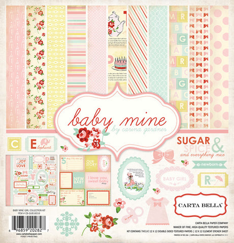 Carta Bella Collection Kit - Baby Mine - Girl