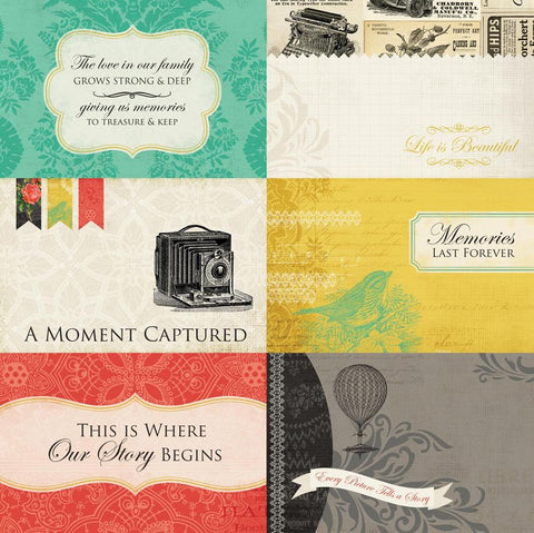 Carta Bella Cut-Outs - Yesterday - 4x6 Journaling Cards