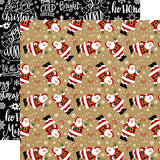 Echo Park Papers - Celebrate Christmas - Here Comes Santa - 2 Sheets