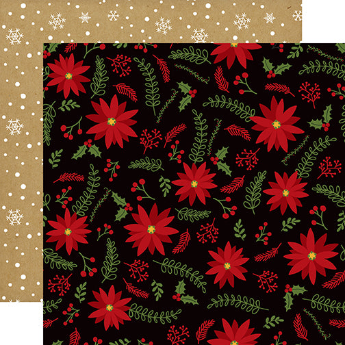 Echo Park Papers - Celebrate Christmas - Holly Jolly - 2 Sheets