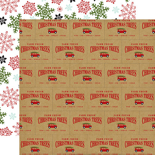 Echo Park Papers - Celebrate Christmas - Tree Farm - 2 Sheets