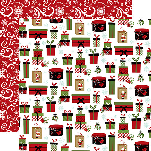 Echo Park Papers - Celebrate Christmas - No Peeking - 2 Sheets
