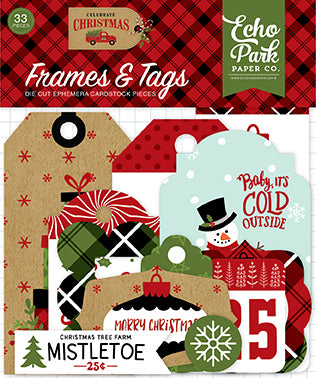 Echo Park Frames & Tags Die-Cuts - Celebrate Christmas