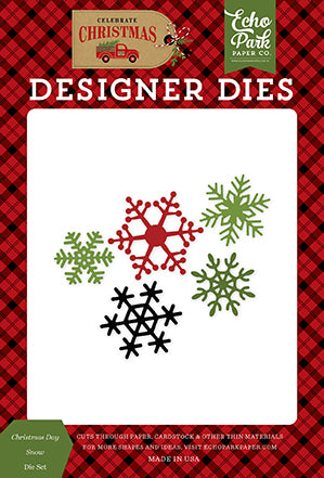 Echo Park Designer Dies - Celebrate Christmas - Christmas Day Snow Die Set