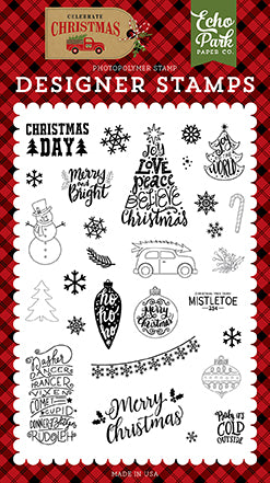 Echo Park Clear Stamp Set - Celebrate Christmas - Christmas Day