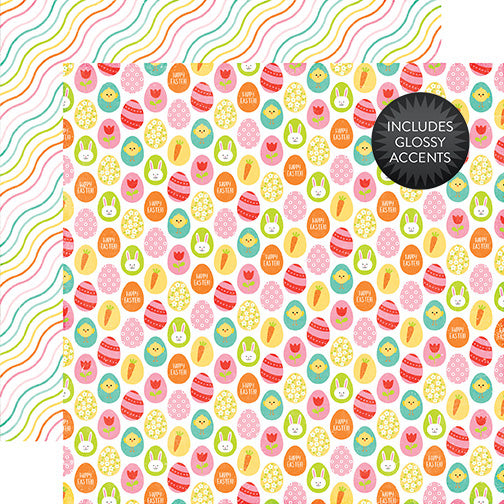 Echo Park Papers - Celebrate Easter - Hunting Eggs - 2 Sheets