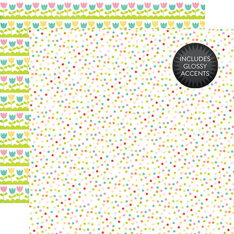 Echo Park Papers - Celebrate Easter - Jelly Beans - 2 Sheets