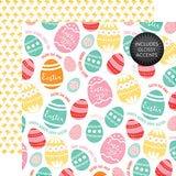 Echo Park Papers - Celebrate Easter - Colored Eggs - 2 Sheets