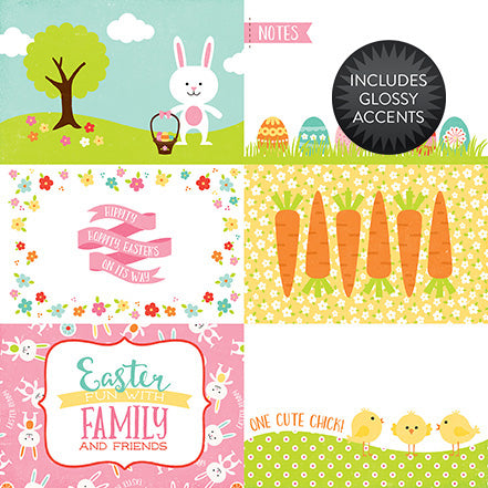 Echo Park Cut-Outs - Celebrate Easter - 4x6 Journaling Cards