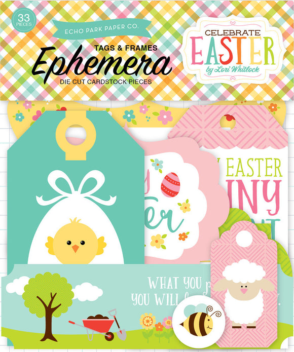 Echo Park Ephemera Die-Cuts - Celebrate Easter - Tags & Frames