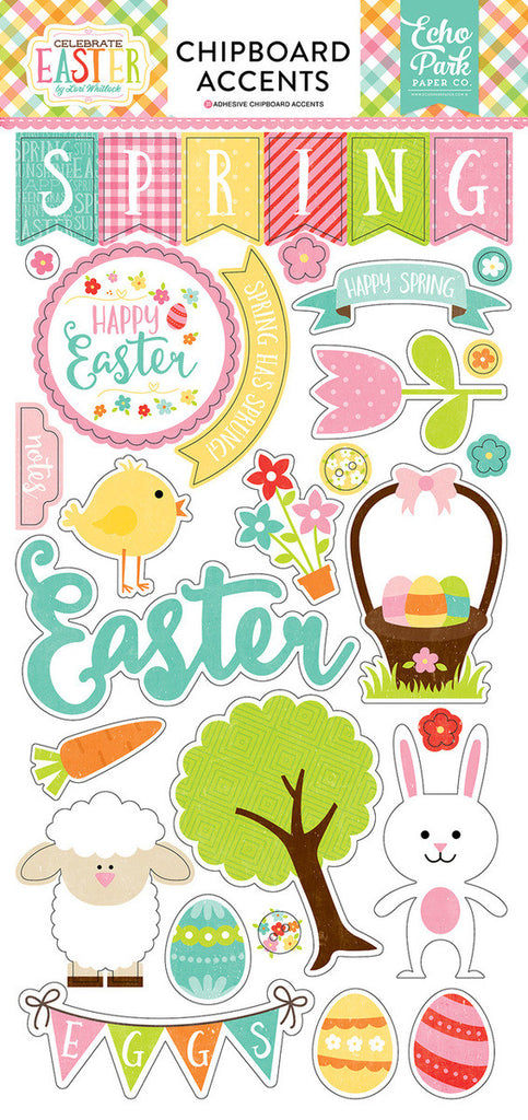 Echo Park Chipboard - Celebrate Easter