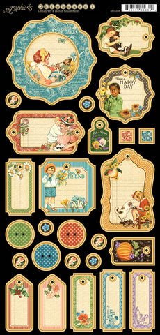 Graphic 45 Chipboard - Children's Hour (A)