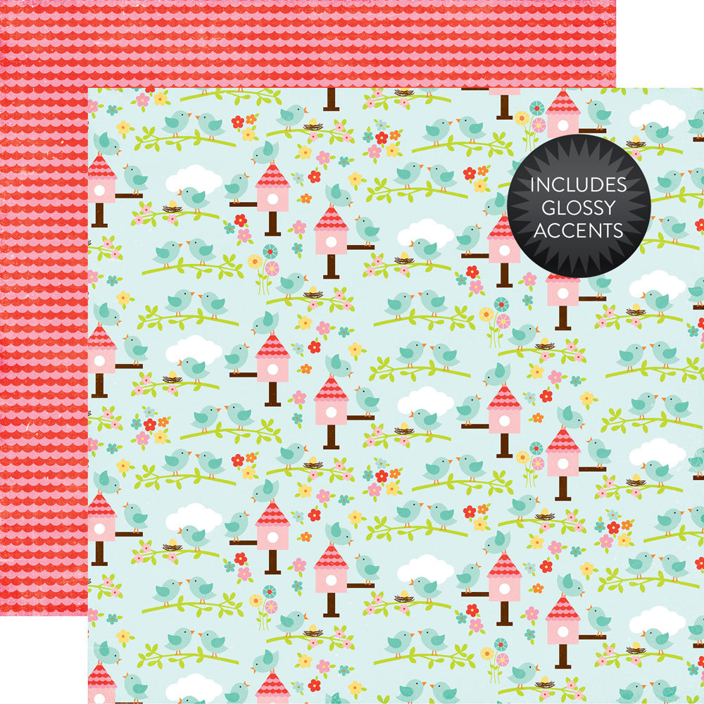 Echo Park Papers - Celebrate Spring - Spring is Here - 2 Sheets
