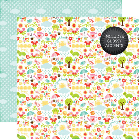 Echo Park Papers - Celebrate Spring - April Showers - 2 Sheets