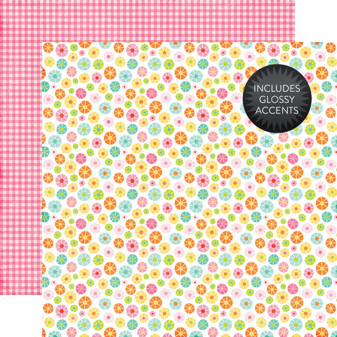 Echo Park Papers - Celebrate Spring - Blooming Flowers - 2 Sheets