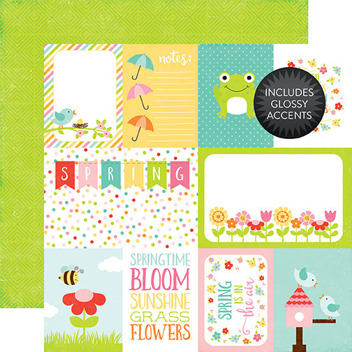 Echo Park Cut-Outs - Celebrate Spring - Journaling Cards