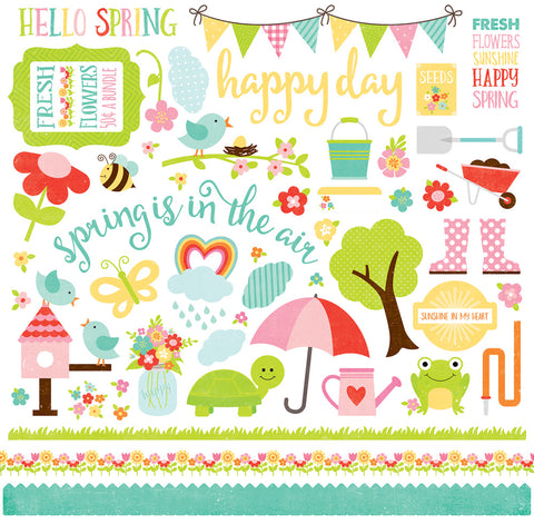 Echo Park 12x12 Cardstock Stickers - Celebrate Spring - Elements