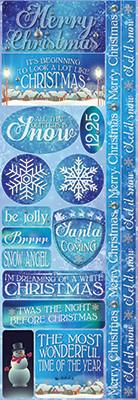 Reminisce Long Cardstock Stickers - Christmas Town - Combo