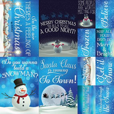 Reminisce 12x12 Cardstock Stickers - Christmas Town - Posters