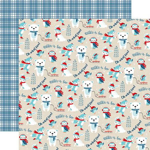 Echo Park Papers - Celebrate Winter - Oh What Fun - 2 Sheets