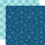 Echo Park Papers - Celebrate Winter - Snowflake Kisses - 2 Sheets
