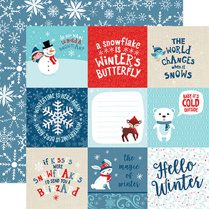 Echo Park Cut-Outs - Celebrate Winter - 4x4 Journaling Cards