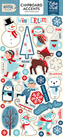 Echo Park Chipboard - Celebrate Winter - Accents