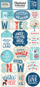 Echo Park Chipboard - Celebrate Winter - Phrases