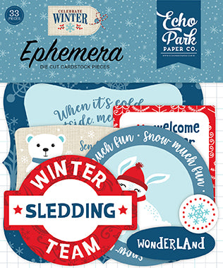 Echo Park Ephemera Die-Cuts - Celebrate Winter