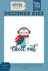 Echo Park Designer Dies - Celebrate Winter - Chill Out Owl Die Set