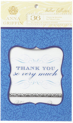 Anna Griffin Vellum Quotes Pad - Willow