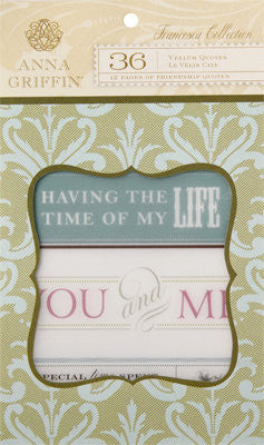 Anna Griffin Vellum Quotes Pad - Francesca