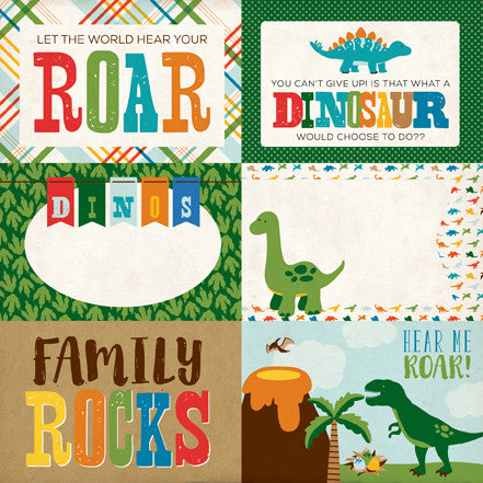 Echo Park Cut-Outs - Dino Friends - 4x6 Journaling Cards