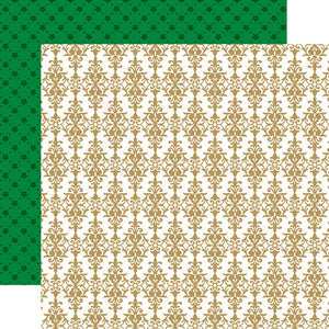 Echo Park Papers - Deck the Halls - Cheery Damask - 2 Sheets
