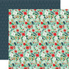 Echo Park Papers - Deck the Halls - Merry Mint Floral - 2 Sheets