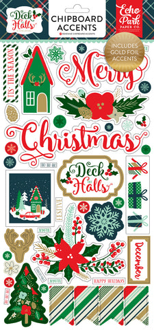 Echo Park Chipboard - Deck the Halls