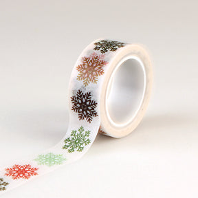 Echo Park Washi Tape - Deck the Halls - Multi Snowflakes