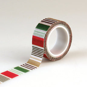 Echo Park Washi Tape - Deck the Halls - Holiday Stripe