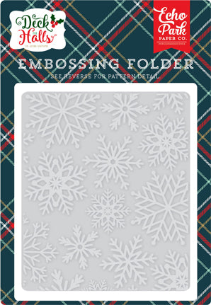 Echo Park Embossing Folder - Deck the Halls - Snowflake (C)