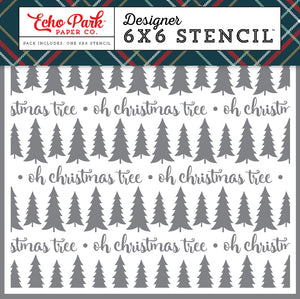 Echo Park 6x6 Stencil - Deck the Halls - Oh Christmas Tree